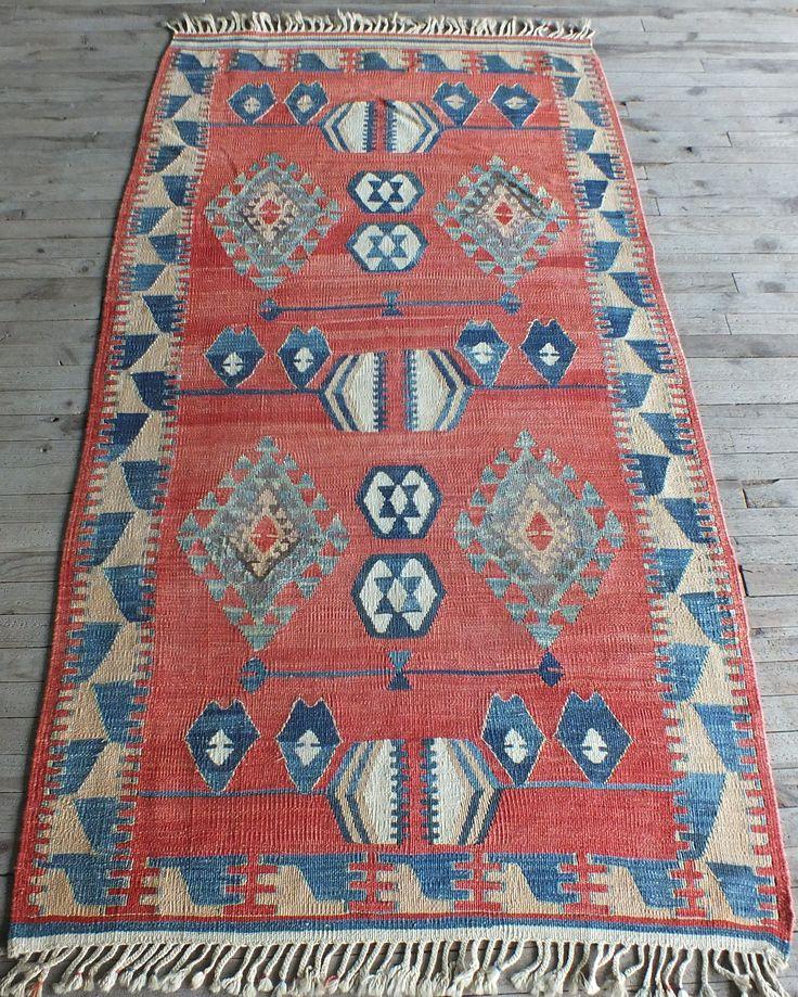 Kilim Rug Turkish Artistic Muted Colors Vintage