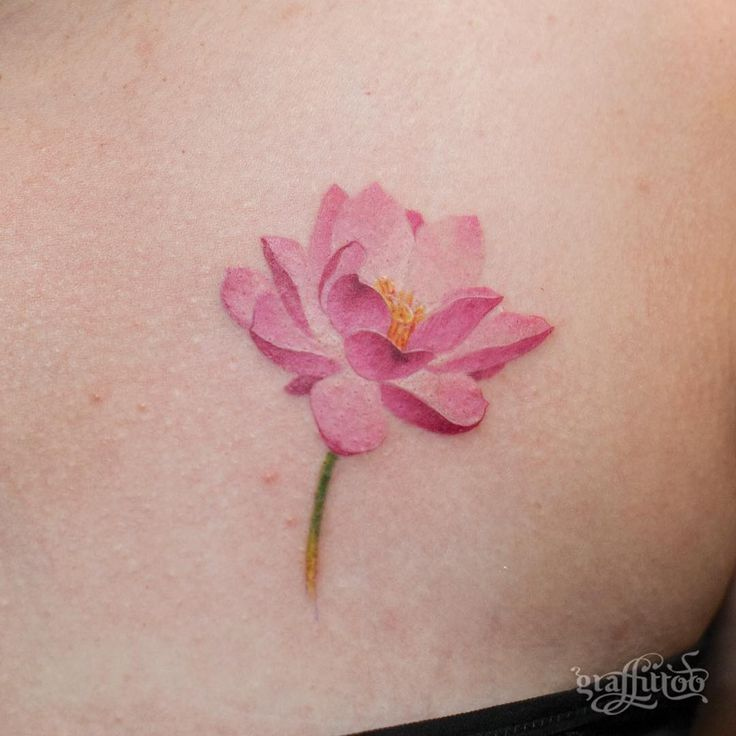 32 Best No Line Flower Tattoo Images On Pinterest: 25+ Best Ideas About Lotus Tattoo On Pinterest