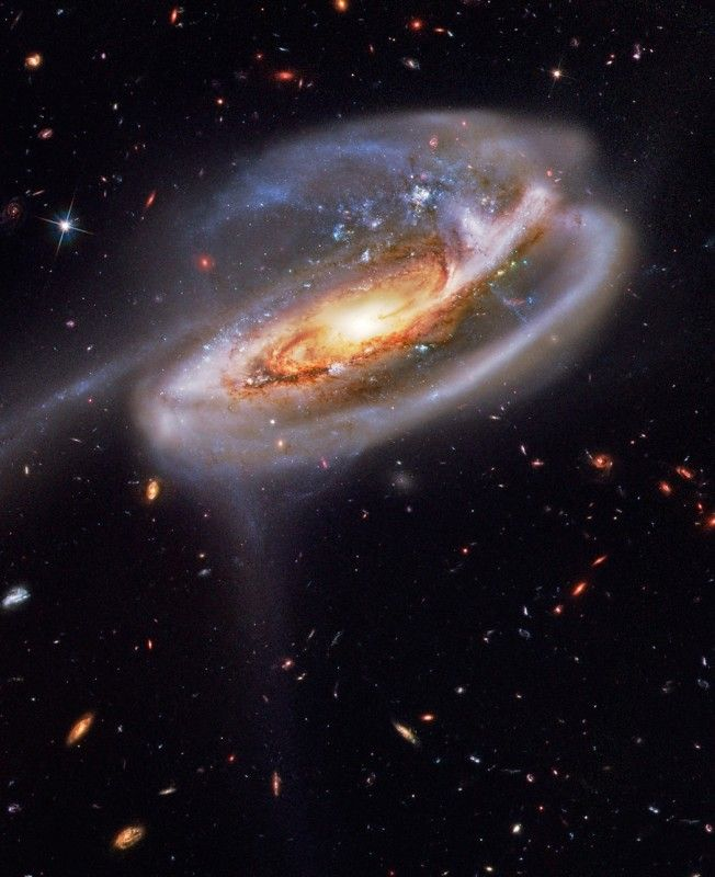 Incredible Hubble image of UGC 10214 galaxy in the constellation of the Dragon.