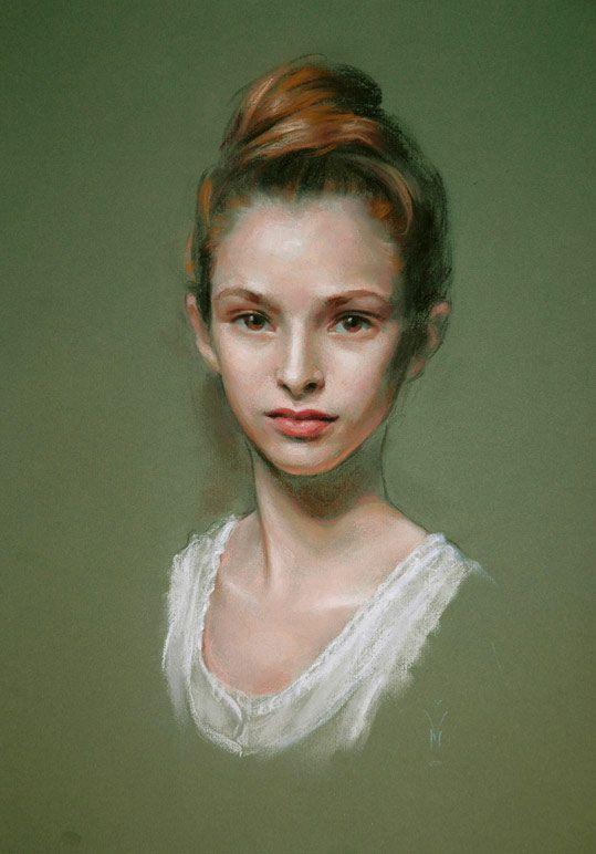 Elizabeth by Miles W Mathis - pastel
