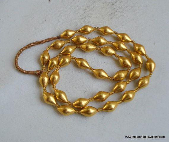 vintage antique tribal old 22k gold beads by indiantribaljewelry, $669.00
