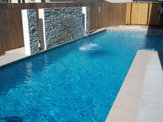 Rectangle Pool With Water Feature 493 best pool images on pinterest | small pools, backyard ideas