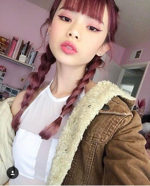 Infrontofapple/Mei dark pink hair
