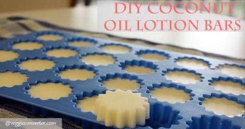 DIY Coconut Oil Lotion Bars #diybeauty #coconutoil