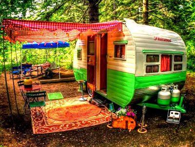 painted caravan