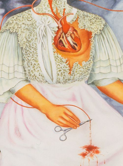 Frida Kahlo - Las Dos Fridas (detail), 1939