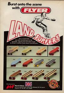'70, special time! Landsurfers made it 42 years later! Skate ads from the seventies. Vintage Skateboard Ad (UK)