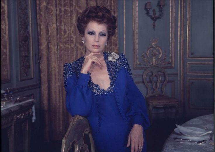 """Silvana Mangano in """"Gruppo di famiglia in un interno"""" (voglio quel vestito blu notte)"""