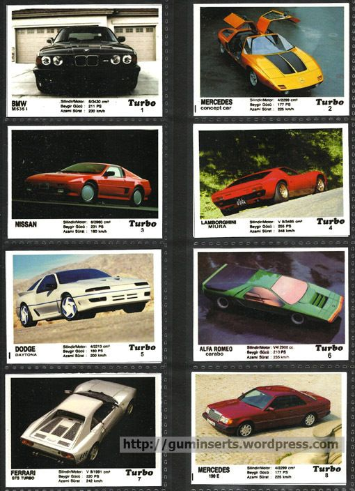 Turbo home-made 1 | My Bubble Gum Inserts Collection