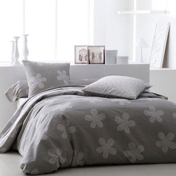 auchan housse de couette imprim e coton susie fleur. Black Bedroom Furniture Sets. Home Design Ideas