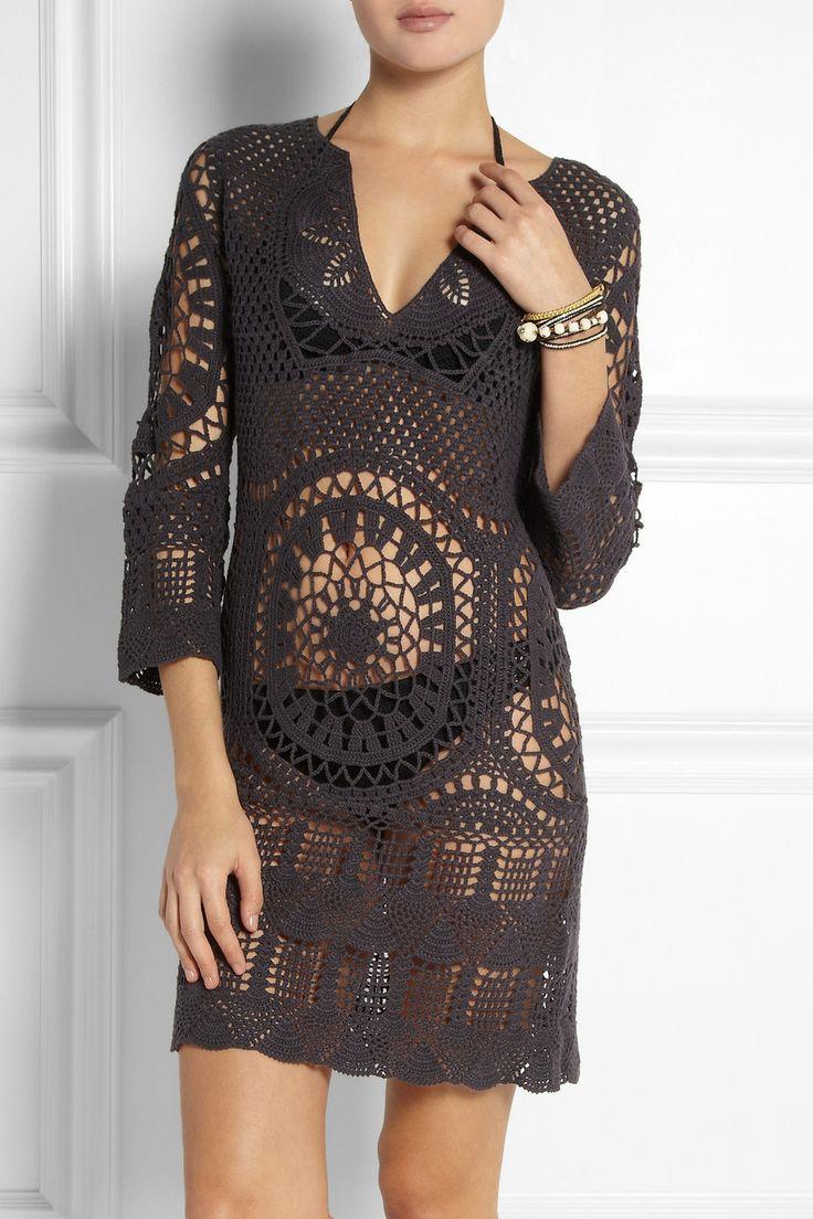 Туника /платье крючком от дизайнера Lisa Maree #crochet_tunic #crochet_dress #Lisa_Maree