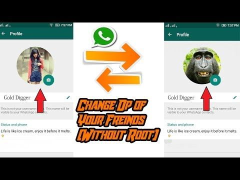 Hindi] How To Change Friend's WhatsApp Profile Picture