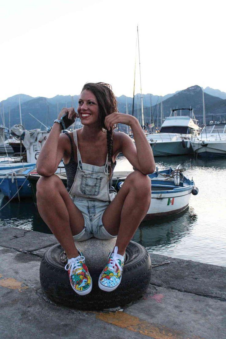 scarpe personalizzate sneakers tela basse imbottite estate 01