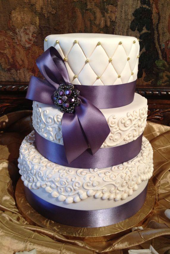 Wedding Cake Purple Ribbon Cake Design Wedding Ideas Decorating Ideas Amazing Cakes Cake