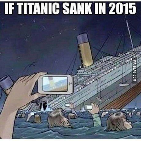 This is SO true.  I think some of the survivors would use any available wi-fi signal to upload their pics to FaceBook rather than get help...