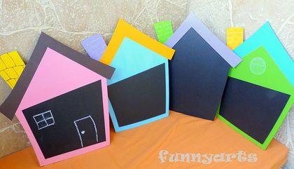 """Грифельная доска """"Домик"""" - подарки детям,грифельная доска,доска для записей"""