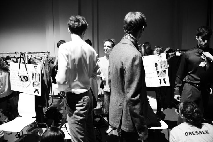 Getting ready #backstage #fashionshow #models #canali #canali1934 #venice #water #mfw #fw14