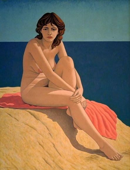 """Nude"" Acrylic 90x120 cm by George Kotsonis"