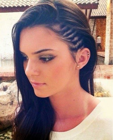 So doing this. Love side corn row styles. How to Chic: HALF HEAD CORNROWS HAIRSTYLES