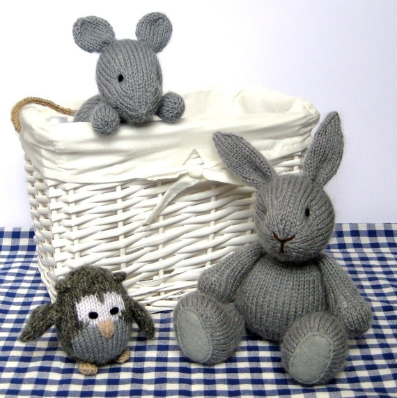 Woodland Friends Collection Volume 1 - Rabbit, Mouse and Owl Knitting Patterns PDF OMG! Somebody knit these for me!!: Friends Collection, Knits Crochet Toys, Owl Knits, Woodland Friends, Patterns Pdf, Knits Patterns, Baby Toys, Knits Toys, Kids Toys