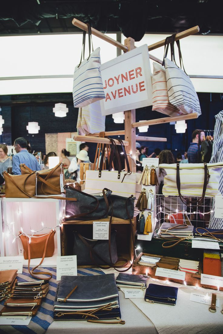 Joyner Avenue brought this neat bag display, photo by Kate Stamas