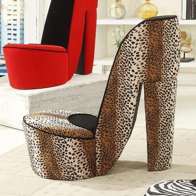 Leopard High Heel Chair