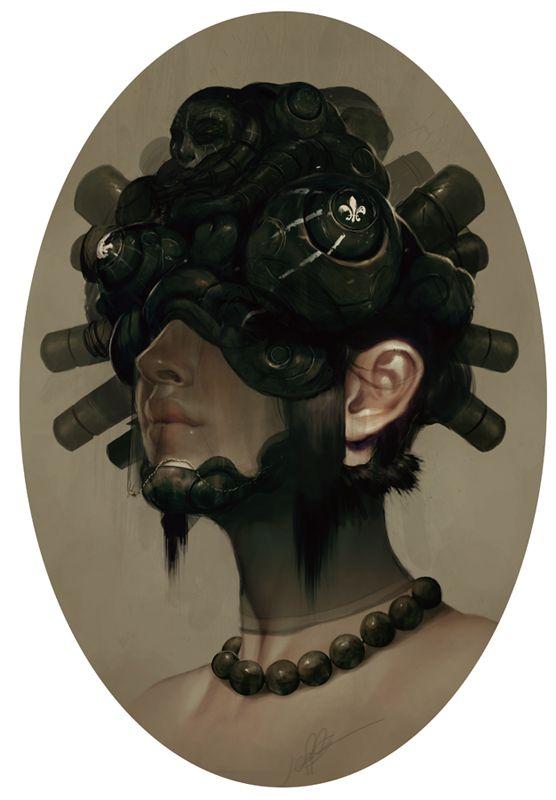 Les portraits en digital painting de Jeff Simpson | Design Spartan : Art digital, digital painting, webdesign, ressources, tutoriels et inspiration…