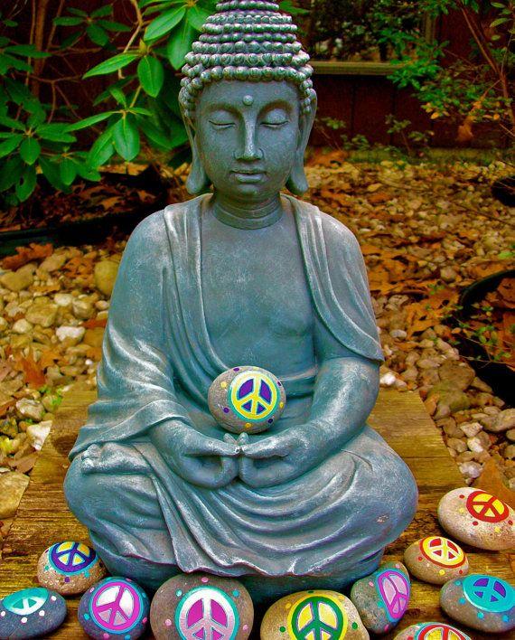 Buddha Peace Rock Art Print by InnerSasa on Etsy, $12.00