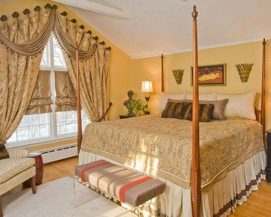 bedroom curtain swags window treatments pinterest