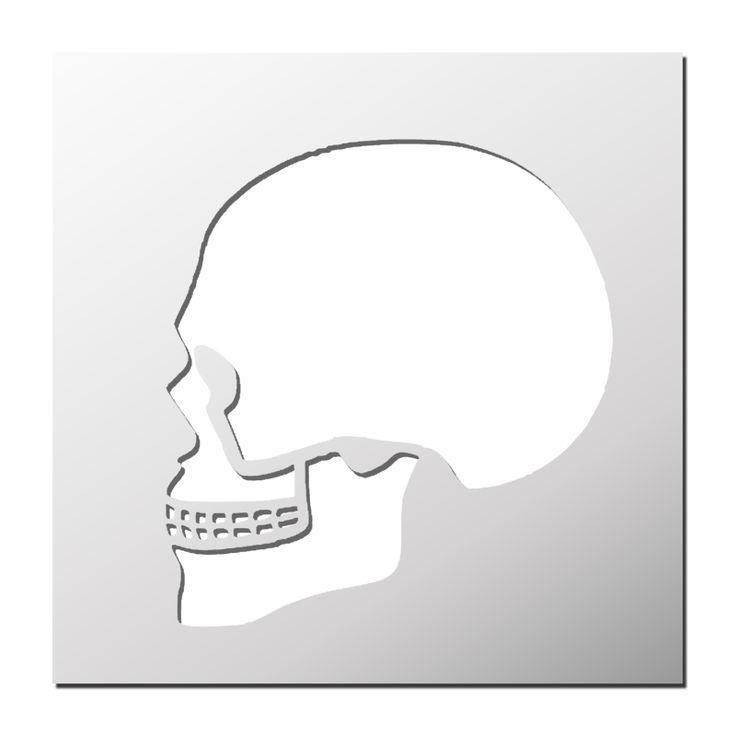 Pochoir Tête de mort | Pictures for metal etchings ... - Pochoir Tete De Mort
