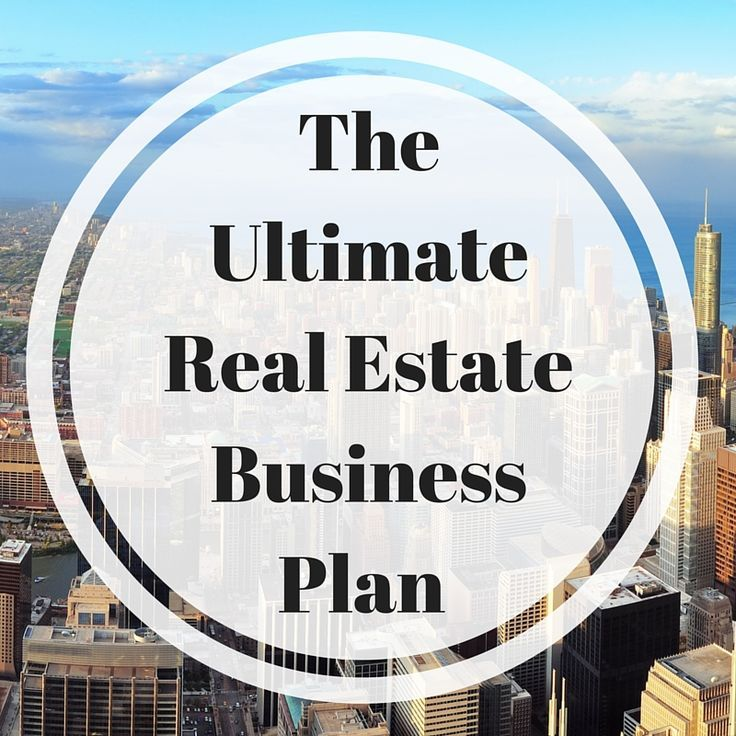 sample real estate business plan the one page investment example