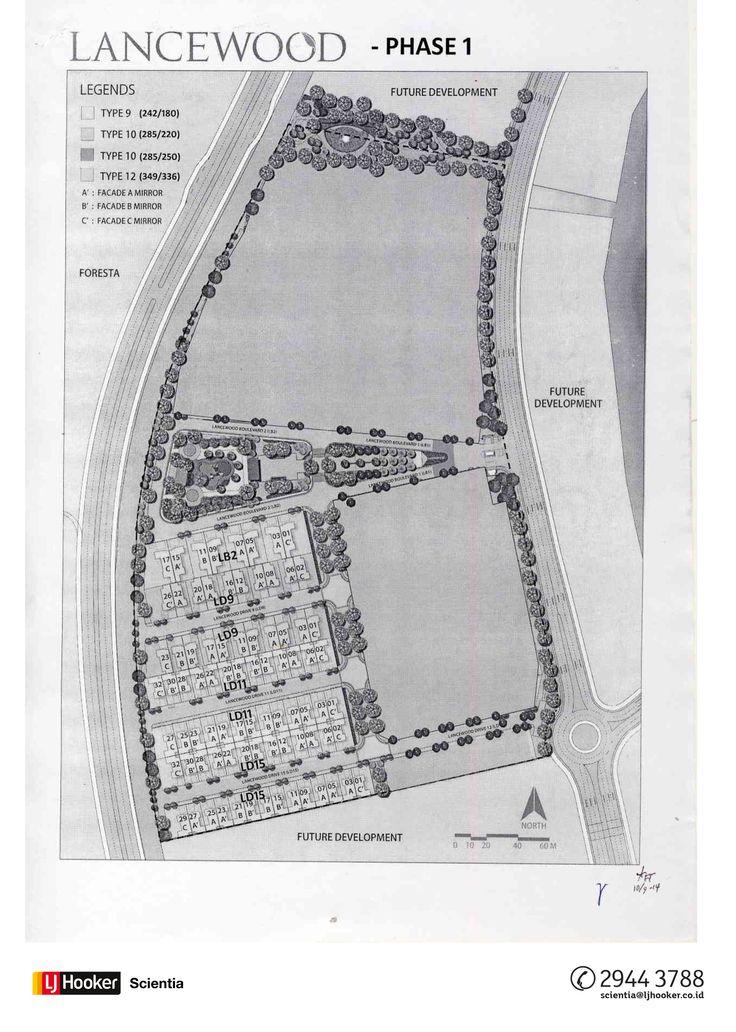 SITE PLAN Phase 1 - Cluster Lancewood @ NavaPark, BSD City
