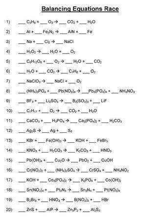 Balancing Chemical Equations - Mr. Durdel's Chemistry | magani ...