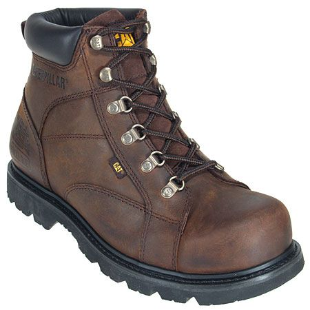 CAT Men's Dark Brown 6 Inch 89595 Steel Toe Work Boots