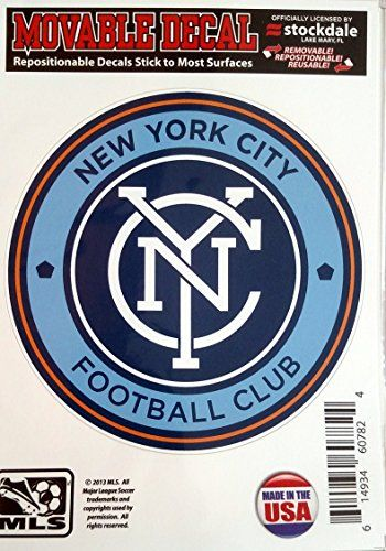 "New York City FC 5"" Vinyl Die Cut Decal Sticker Repositionable MLS Soccer Football Club  http://allstarsportsfan.com/product/new-york-city-fc-5-vinyl-die-cut-decal-sticker-repositionable-mls-soccer-football-club/  REPOSITIONABLE Decal – Apply, Remove, Reapply Self Adhesive Backing Officially Licensed"