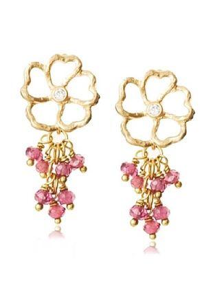 Diane Yang Designs Cascading Garnet Post Earrings