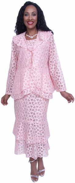 Plus Size Wedding Guest Dress Peach 3 Piece #discountdressshop #plussize #formal #modest #womensclothing #motherofbridedress