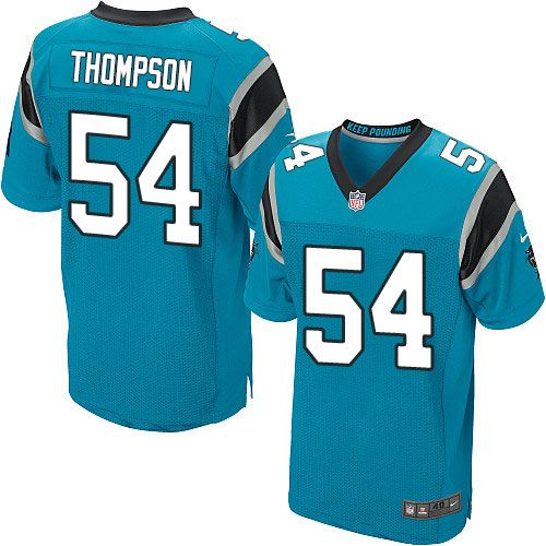 Nike Elite Shaq Thompson Blue Men's Jersey - Carolina Panthers #54 NFL Alternate