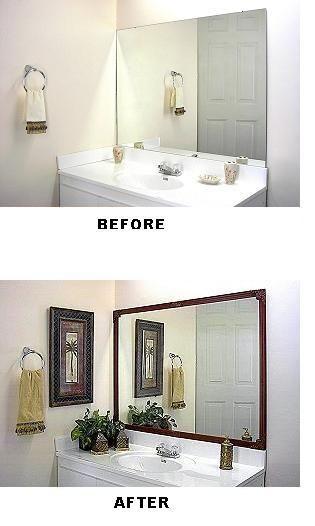 DYI Bathroom Mirror fixes...must do to guest bathroom