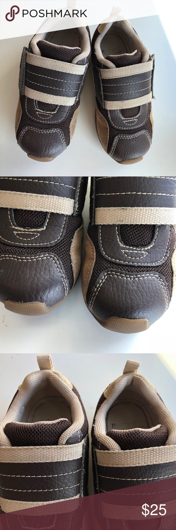 Boys Pediped Shoes Boys Pediped brown sneakers with Velcro closure size 9.5.  Hardly worn!  Some wear on the inside sole of the logo, other than that in EXCELLENT condition!  From a pet&smoke free home! pediped Shoes