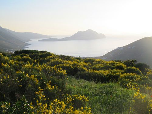 Amorgos view from the village of Tholaria