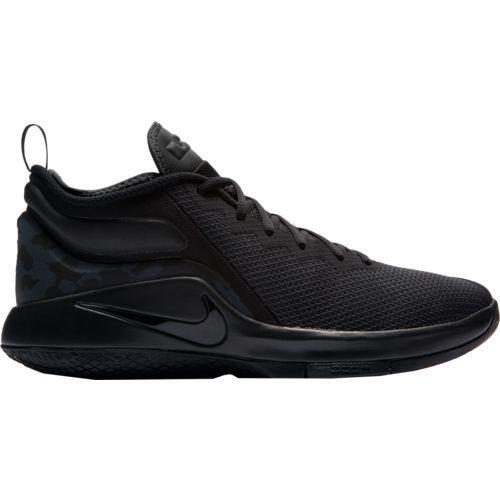 Nike Men\u0027s LeBron James Witness II Basketball Shoes (Black/Black, Size 11)