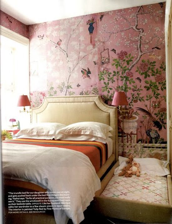 I Cant Imagine Standing In This Room But Like Looking At A Picture Of It Love How The Chinoiserie Wallpaper Is Mural Rather Than Same Pattern