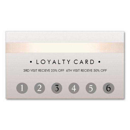 Beauty Salon 6 Punch Customer Loyalty Card Lash