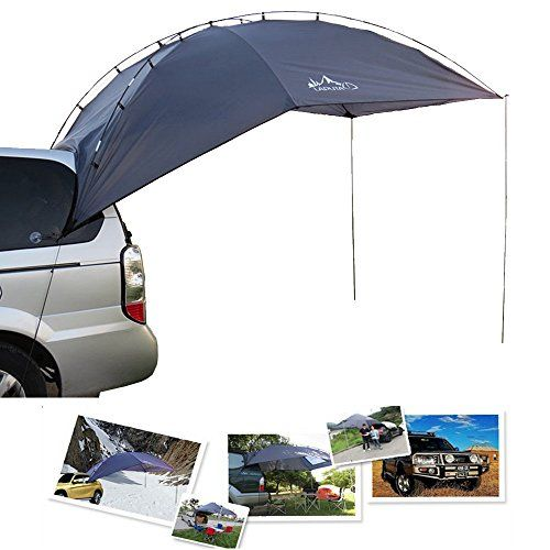 TOP-MAX Awning Camper Trailer Roof Top Tent Beach Camping SUVs Truck Car Rack UV