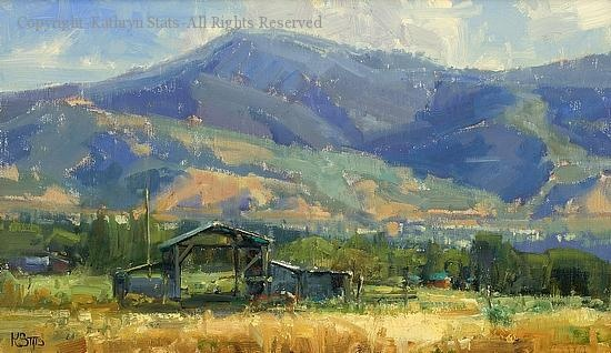 Mid Summer Morning - Oil by Kathryn Stats