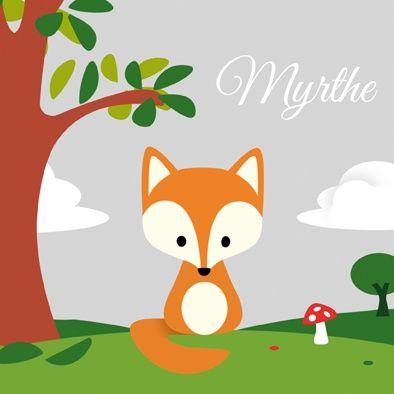 Geboortekaartje Myrthe