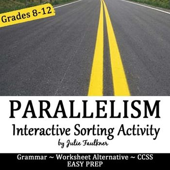 Grammar review doesn't have to be boring and monotonous! Get kids up and moving with my interactive review games for grammar! This is a classroom-tested, print and go review game for differentiating between parallel and non parallel structure.  It gives 32 sentences.This printable sheet serves as the answer key.