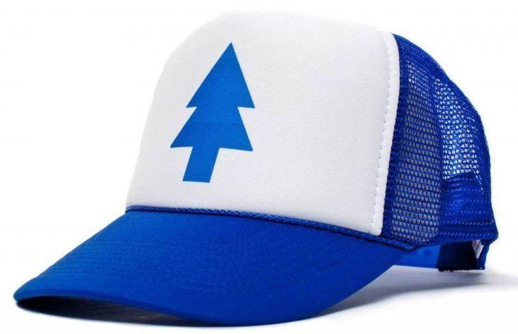 New Curved Bill BLUE PINE TREE Dipper Gravity Falls Gorras planas Cartoon Hat Cap Trucker Outdoor Travel