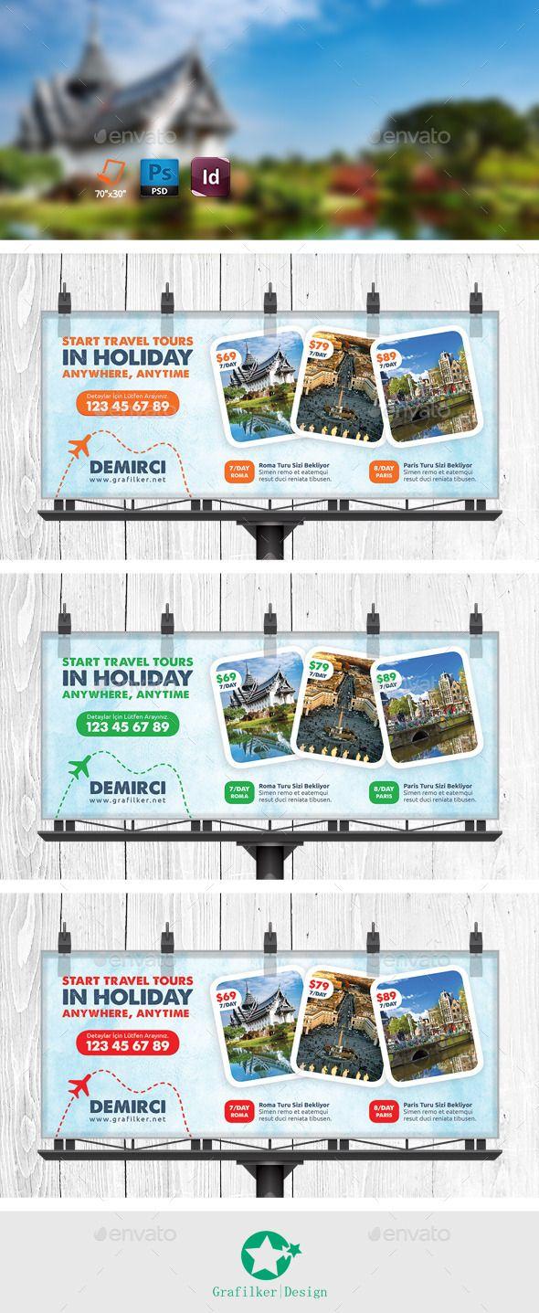 Travel Tour Billboard Templates — Photoshop PSD #beach #entertainment • Avai...
